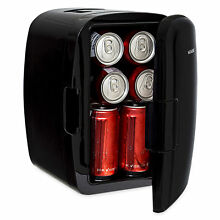 Magnasonic Portable 8 Can Mini Fridge Cooler   Warmer  110V   12V AC DC Power