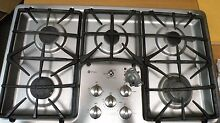 GE Profile Stainless Steel 36  Stovetop Gas Burner