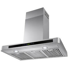 36  Wall Mount Stainless Steel Range Hood Kitchen Stove Vent Modern Touch Panel