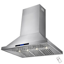 New 42  Stainless Steel Wall Mount Kitchen Range Hood Modern Touch Panel Control