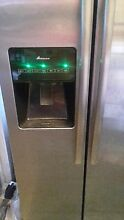 AMANA REFRIG  SIDE BY SIDE FREE ICE MAKER WATER DESPEN  SMOKE IN COLOR 33 BY 4FT