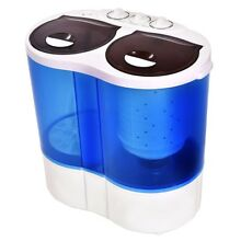 New Mini Portable Compact Twin Tub Washing Machine 15 lbs Washer Spin Spinner US