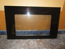 MAYTAG RANGE OVEN DOOR GLASS BLACK PART  74006405