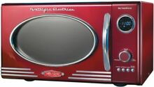 Counter top Microwave Nostalgia Electrics Retro Series 0 9 cu ft  in Red Vintage