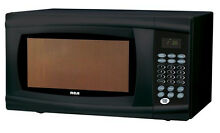 Microwave Oven Black Countertop Kitchen Digital 1000 Watts Dorm Contemporary