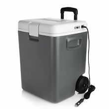 Electric Cooler with Wheels by BESTEK   30 Quart Car Refrigerator Freezer 12V