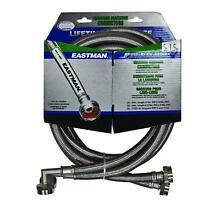 Eastman 41065 Ss Washing Machine Hose with 90 Degree Elbow  3 4 Inch X