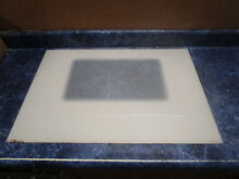 WHIRLPOOL RANGE DOOR GLASS BISQUE PART   W10118456