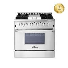 36  4 BURNER GAS RANGE PROFESSIONAL W  GRIDDLE STEEL KITCHEN COOKER STOVE K9J9