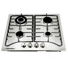 New 23  Stainless Steel 4 Burners Built In Stoves Natural Gas Kitchen Cooktops