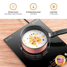 Portable Induction Cooktop  iSiLER 1800W Countertop Burner with Kids Safety Loc