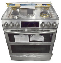 Samsung NX58K9850SS 30  Flex Duo Stainless Slide In Gas Range