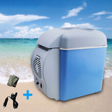 Portable 7 5L Car Refrigerator Cooler Warmer 6 bottles Drugs Makecup Drinks GT