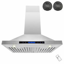 30  Europe Exhaust Stainless Steel Glass Wall Range Hood Stove Vent Y RH0034