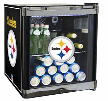 Glaros NFL 1 8 cu  ft  Beverage Center Pittsburgh Steelers