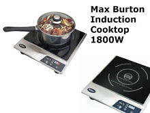 Max Burton 6200 Deluxe Induction COOKTOP  1800 Watt Portable Electric STOVE