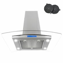 Cosmo 36  900 CFM Ductless Island Range Hood in Stainless Steel