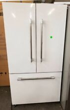 MARVEL COUNTER DEPTH FRENCH DOOR REFRIGERATOR WHITE WITH STAINLESS HANDLES