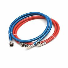 Stainless Steel Washing Machine Hose 2pcs Red Blue 6ft Burst Proof Universal Fit