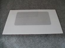 WB57K5 GE KENMORE RANGE OVEN OUTER DOOR GLASS WHITE 29 9 16  x 18 3 4
