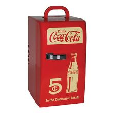 Coca Cola Compact 16 Can Capacity Retro Mini Cooler   Red CCR12   Free Shipping