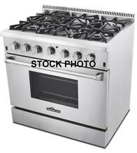 THOR KITCHEN 36  PRO STYLE 6 BURNER GAS RANGE STAINLESS STEEL