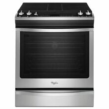 Whirlpool WEG730H0DS 5 8 cu  ft  Slide In Gas Stove w  Convection Stainless NIB