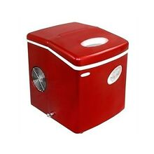 Portable Ice Cube Maker Red 28 Lb Compact Countertop IceMaker RV Kitchen Boat