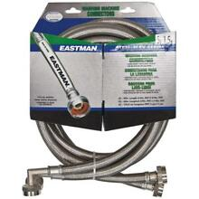 Eastman 41065 Ss Washing Machine Hose with 90 Degree Elbow  3 4 Inch X 3 4 Inch