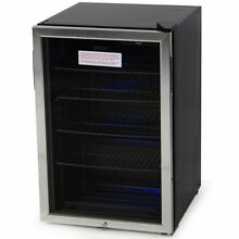 Beverage Cooler and Refrigerator  Mini Fridge with Glass Door
