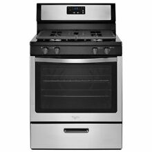 NO SHIP NEW  Whirlpool 30  Gas Range Stove stainless  black  Sealed Burners