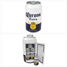 Corona Mini Can Drink Refrigerator Compact Beer Design Man Cave Cold Fridge