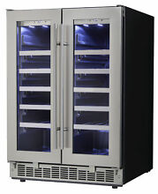 Danby 42 Bottle Silhouette Professional Dual Zone Built In Wine Cooler