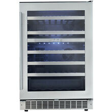 Danby 51 Bottle Silhouette Dual Zone Built In Wine Cooler