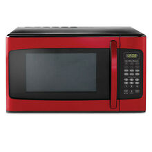 Hamilton Beach Microwave Oven Kitchen Countertop Red LED Display 1000W