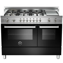 Bertazzoni Pro 48  Free standing Gas Range with Griddle
