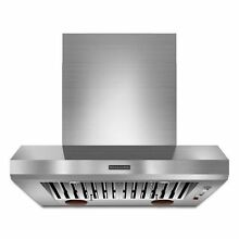 KitchenAid 36  Wall Mount Canopy Hood Commercial Style KXW9736YSS