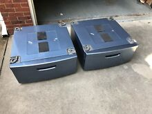 2  set  Samsung 27   WE357AOZ Washer Dryer Laundry Pedestal Azure Blue