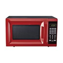 Mainstays EM720CGA R 700W Output Microwave Oven  Red
