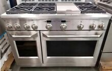 NEW OUT OF BOX GE MONOGRAM 48  DUAL FUEL RANGE STAINLESS STEEL W WARRANTY