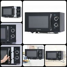900 Watt Kitchens Counter Top Rotary Microwave Oven Black For Preparing Snacks