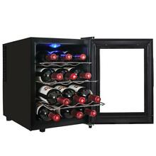 12 Bottle Thermoelectric  Stainless  Steel  Freestanding  Wine Cooler  Y WC0006