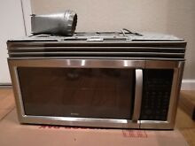 Kenmore blace and Stainless Steel 1000 Watts Over the Range microwave 1 6 cu  ft