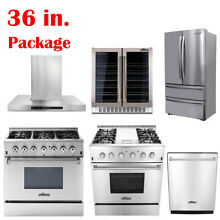 36  Thor Kitchen Cooking Gas Range Stoves   Dishwasher  Range Hood  Wine Cooler