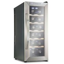 Ivation Premium Stainless Steel 12 Bottle Thermoelectric Wine Cooler Chiller