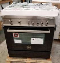 NEW OUT OF BOX BERTAZZONI 4 BURNER 30  PRO RANGE BLACK COLOR LAST YEARS MODEL