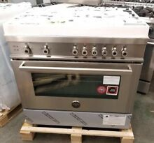 NEW OUT OF BOX BERTAZZONI 36 INCH STAINLESS STEEL GAS RANGE LAST YEARS MODEL