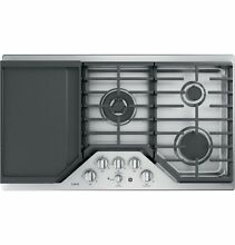 GE Cafe CGP9536SLSS 36 Inch Natural Gas Sealed Burner Style Cooktop with 5 Bu