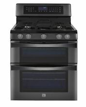 Kenmore Elite 6 1 cu  ft  Double Oven Gas Range w Convection Cooking in Black