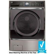 Kenmore Elite 41073 5 2 cu  ft  Front Load Washer with Steam Treat in Metalli